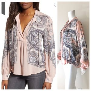 🆕 Lucky Brand Scarf Paisley Peasant Tunic M NWT